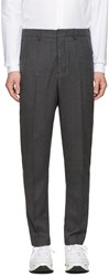 Ami Alexandre Mattiussi Grey Wool Carrote Trousers