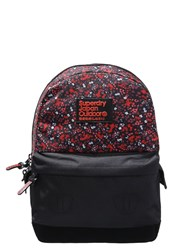 Superdry Midway Montana Rucksack Morrocan Black Red Multicoloured
