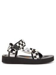 Suicoke Depa V2 Checkerboard Sandals Black White