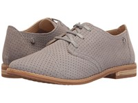 Hush Puppies Aiden Clever Frost Grey Suede Perf Women's Slip On Dress Shoes Gray