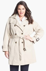 Plus Size Women's London Fog Heritage Trench With Detachable Liner Black