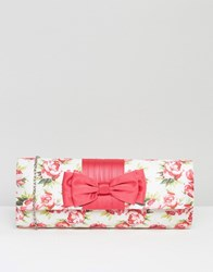 Lotus Floral Clutch Bag Pink Floral