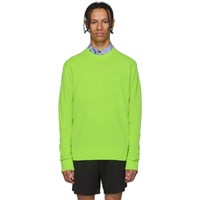 Acne Studios Yellow Wool Nalon Face Sweater