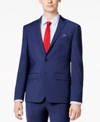 Bar Iii Men's Extra Slim Fit Stretch Wrinkle Resistant Blue Suit Jacket Only At Macy's Blue Solid