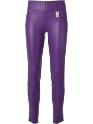 Thomas Wylde Skinny Trousers Pink And Purple