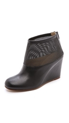 Maison Martin Margiela Mesh Wedge Booties Black