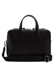 Loewe Goya Textured Leather Briefcase Black