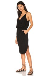 Lanston Surplice Cami Dress Black