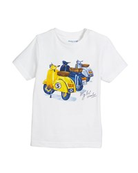 Mayoral Short Sleeve Scooter Graphic T Shirt Size 12 36 Months White