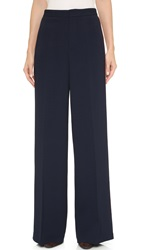 Derek Lam Tuxedo Stripe Wide Trousers Navy