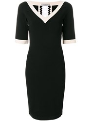 D.Exterior Cut Out Fitted Dress Black