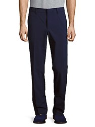 J. Lindeberg Regular Fit Flat Front Style Pants Navy Purple