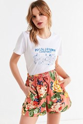 Urban Outfitters Uo Jive Button Down Drawstring Short Floral Multi