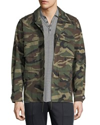 Vince Camouflage Print Military Jacket