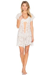 Flora Nikrooz Dorothy Embroidered Wrap White