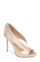Imagine By Vince Camuto Women's Dailey Open Toe Pump Soft Gold Satin