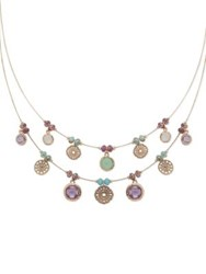 Lonna And Lilly Lace Coin Frontal Necklace Multi