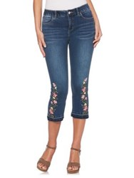 Rafaella Plus Floral Embroidered Jeans Hudson Blue