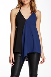 Rampage Colorblock Halter Blouse