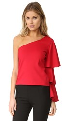 Torn By Ronny Kobo Rose Top Red Ponte