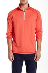 Tommy Bahama New Firewall Half Zip Pullover Orange
