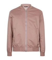 Gieves And Hawkes Nylon Bomber Jacket Male Salmon