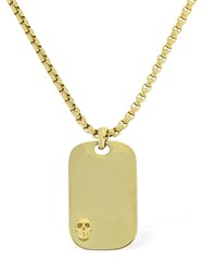 Northskull Skull Tag Chain Necklace Gold