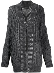 Ermanno Scervino Oversized Cardigan Grey