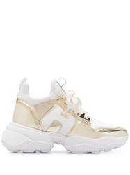 Hogan Metallic Chunky Sole Sneakers 60