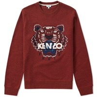 Kenzo Tiger Crew Sweat Burgundy