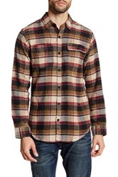 Burnside Long Sleeve Plaid Shirt Beige
