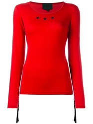 Jean Paul Gaultier Vintage Star Fringed Top Red