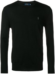 Polo Ralph Lauren Logo Fitted Sweater Black