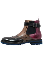 Melvin And Hamilton Trevor 6 Boots Navy Tortora Guana Light Grey Fuxia Dark Blue