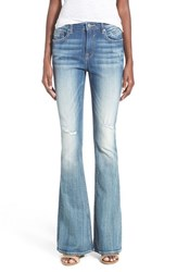 Junior Women's Vigoss 'Chelsea' Flare Jeans Medium Wash
