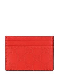 Gucci Gg Embossed Leather Card Holder