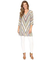 Nic Zoe Chevron Tunic Multi Women's Blouse