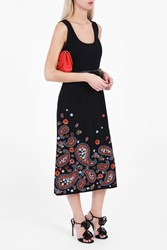 Andrew Gn Women S Paisley Embroidered Dress Boutique1 Black