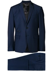 Philipp Plein Two Piece Fitted Suit Blue