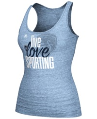 Adidas Women's Sporting Kansas City Team Tank Blue