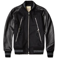 Monitaly Raglan Zipper Jacket Black