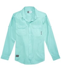 Lrg Men's Camper Shirt Nile Blue