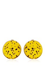 Ellery Mellow Resin Disk Earrings In Tortoise Shell Gold
