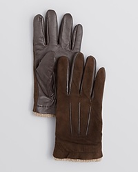 The Men's Store At Bloomingdale's Suede And Leather Palm Tech Gloves Bloomingdale's Exclusive Brown