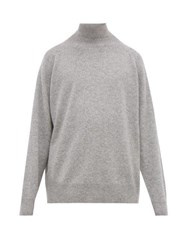 Raey Loose Fit Funnel Neck Cashmere Sweater Grey