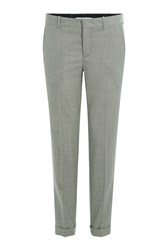 Carven Wool Woven Print Trousers Grey