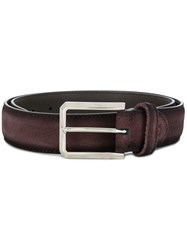 Canali Classic Buckle Belt Brown