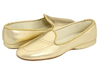 Daniel Green Meg Gold Leather Women's Slippers