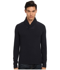Michael Kors Waffle Shawl Pullover Midnight Men's Long Sleeve Pullover Navy