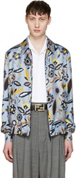 Fendi Blue Flower Jacket